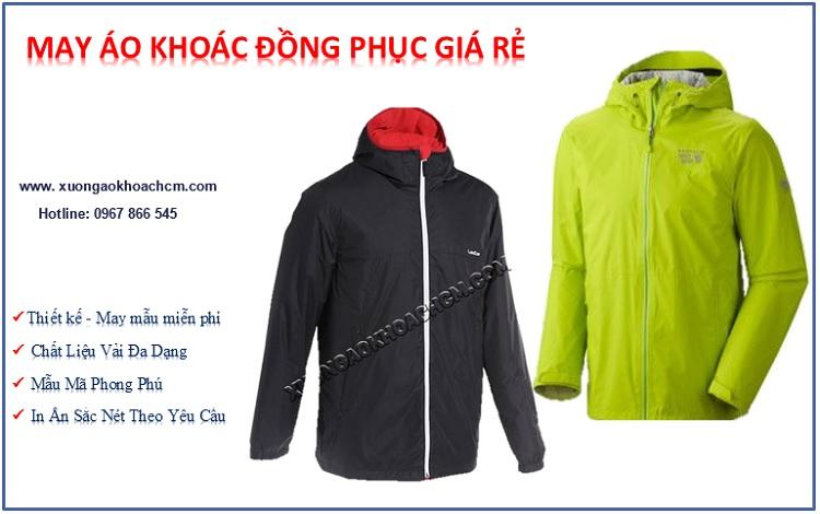 chất liệu may áo khoác đồng phục giá rẻ