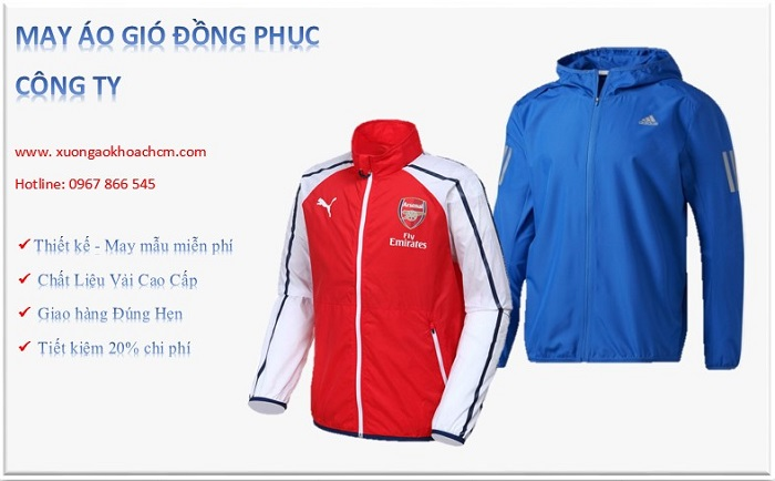 chất liệu vải may áo gió đồng phục