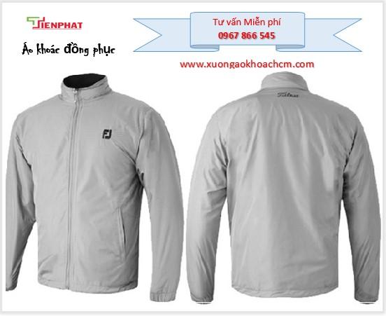 may áo gió hai lớp đồng phục công ty