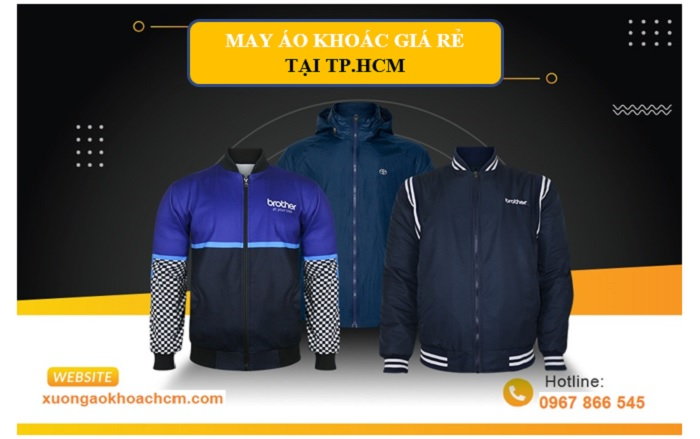 xưởng may áo khoác đồng phục uy tín TPHCM