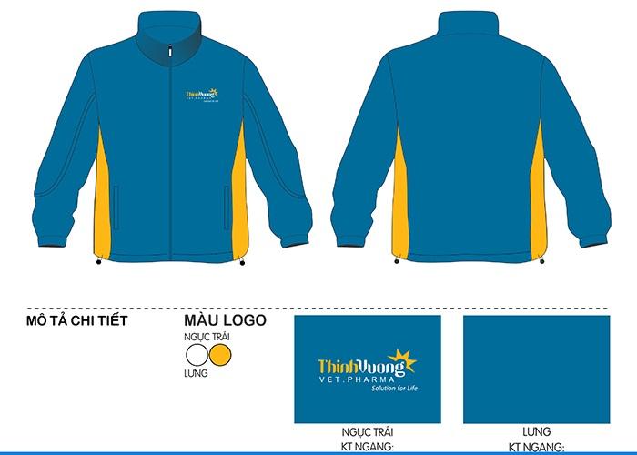 mẫu thiết kế áo khoác đồng phục