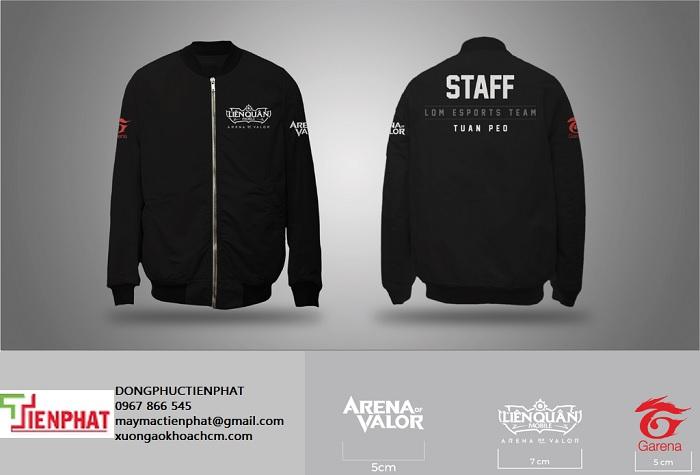 may áo khoác đồng phục team building