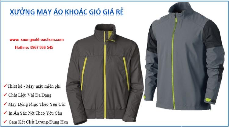 xưởng may áo khoác gió giá rẻ tại hcm