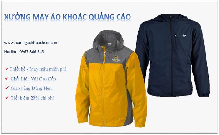 xưởng may áo khoác quảng cáo giá rẻ