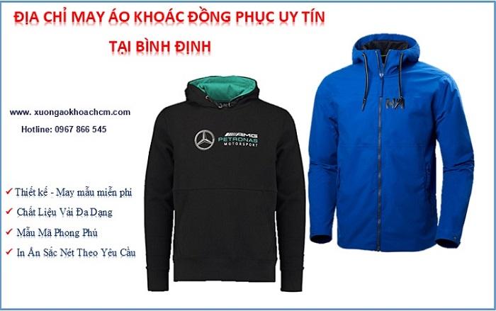xưởng may áo khoác đồng phục giá rẻ tại Bình Định