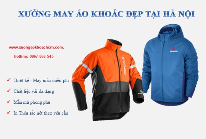 Xưởng may áo khoác đẹp, uy tín tại Hà Nội