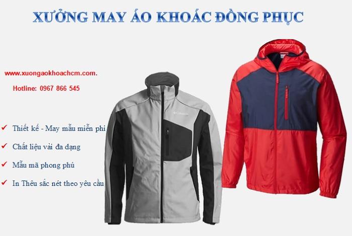 xưởng may áo khoác theo yêu cầu giá rẻ