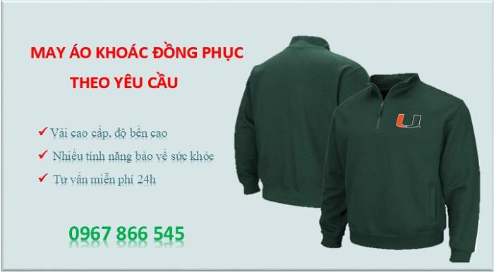 may áo khoác đồng phục theo yêu cầu tại hcm